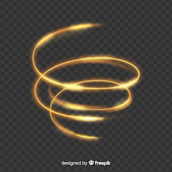 Elegant glanzend gouden spiraalvormig effect