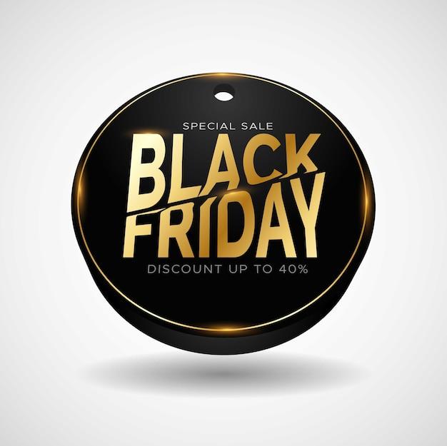 Elegant gouden black friday-logo-ontwerp