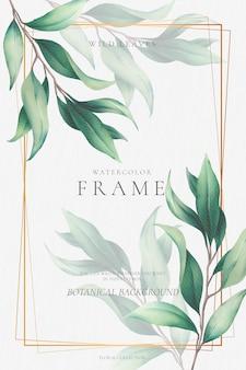 Elegant gouden frame met mooie bladeren