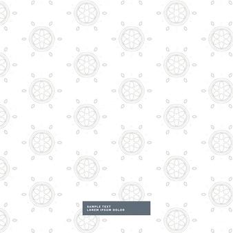 Elegant grijs patroon op een witte achtergrond