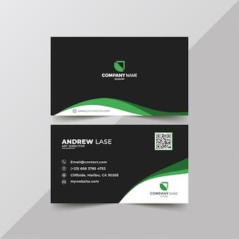 Elegant groen visitekaartje