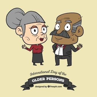 Elegant grootouders voor de dag van de ouderen