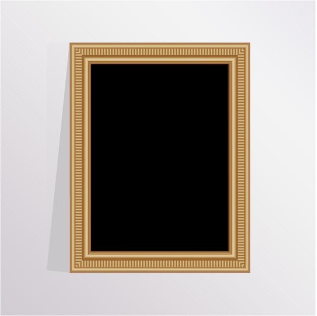 Elegant houten fotolijst met een grijze achtergrond