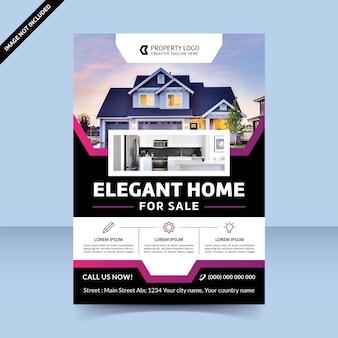 Elegant huis te koop beste flyer-sjabloonontwerp