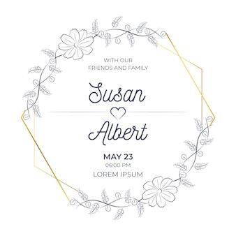 Elegant huwelijk bloemen frame ontwerp