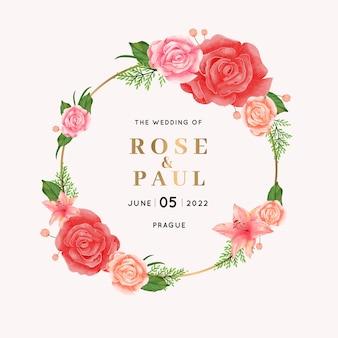 Elegant huwelijk bloemenframe