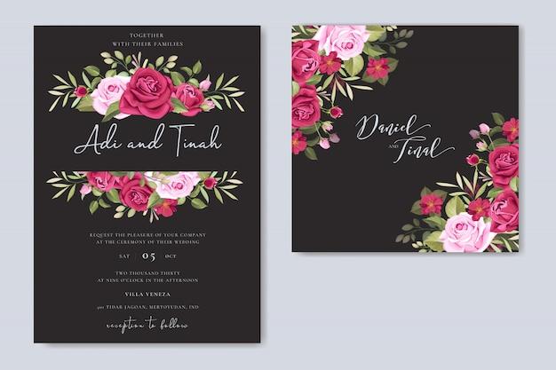Elegant huwelijkskaartontwerp met het mooie malplaatje van de rozenkroon