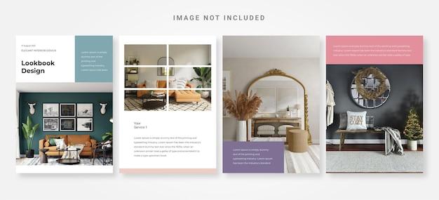 Elegant interieur lookbook ontwerpsjabloon