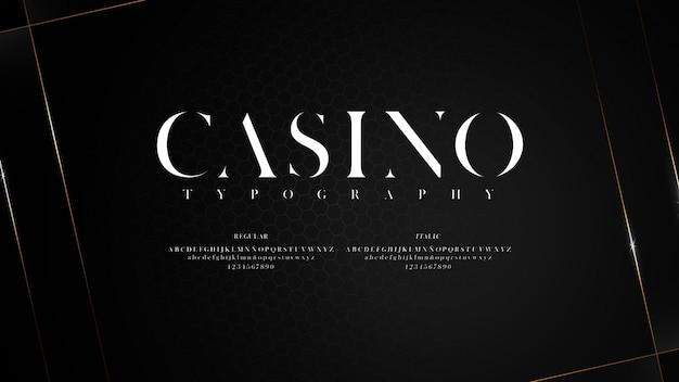 Elegant lettertype met scherpe uiteinden
