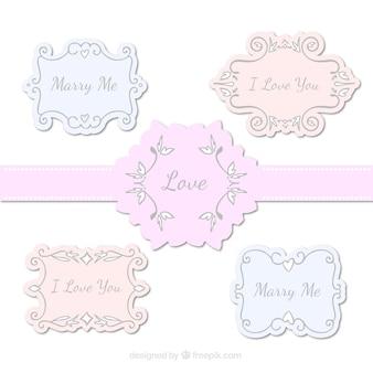 Elegant liefde frames