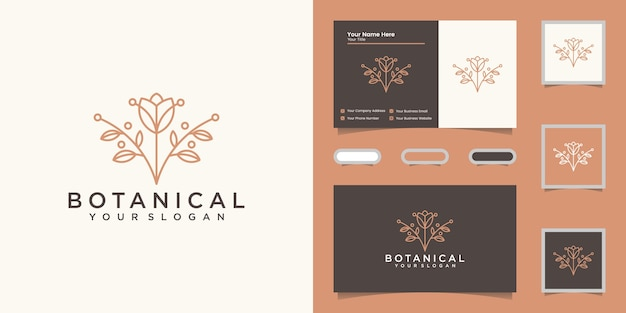 Elegant logo en visitekaartjeontwerp