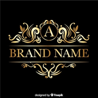Elegant logo met retro ornamenten