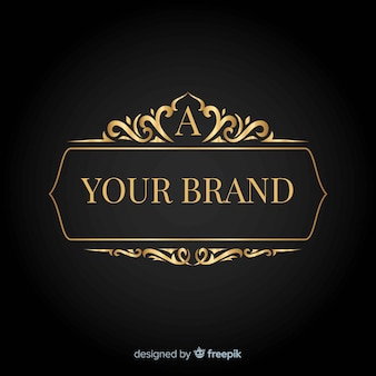 Elegant logo met vintage ornamenten