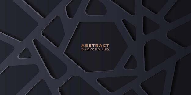 Elegant luxe deluxe abstract donker zwart geometrisch achtergrondelement voor reclame voor posterbanners