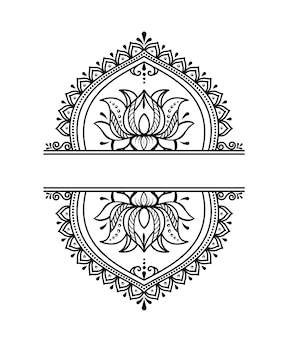 Elegant luxe mandala ornament ontwerp