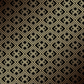 Elegant luxe naadloos betegeld goud en zwart patroonontwerp