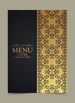 Elegant menu-omslagontwerp