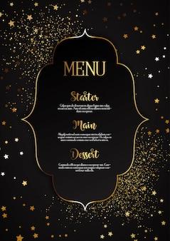 Elegant menuontwerp