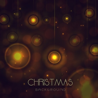 Elegant merry christmas achtergronden met lichteffect