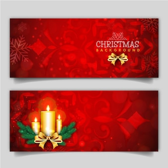 Elegant merry christmas banner met lichteffect