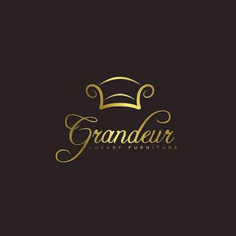 Elegant meubels logo concept