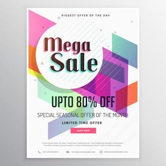 Elegant modern verkoop kortingsbon template