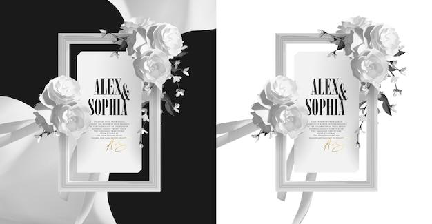 Elegant mooi frame met witte rozenkrans