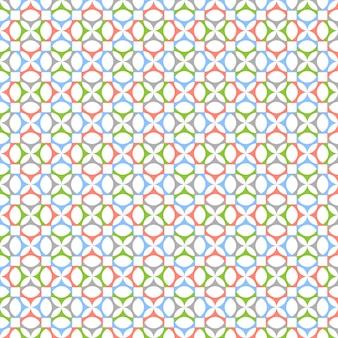 Elegant naadloos patroon in retro kleuren