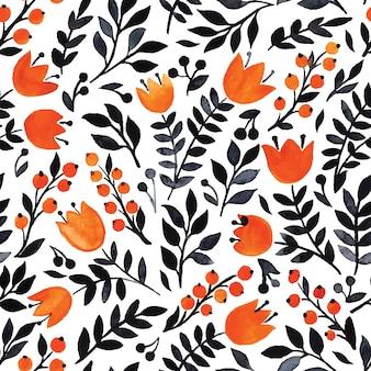 Elegant naadloos patroon met bloemen, vectorillustratie