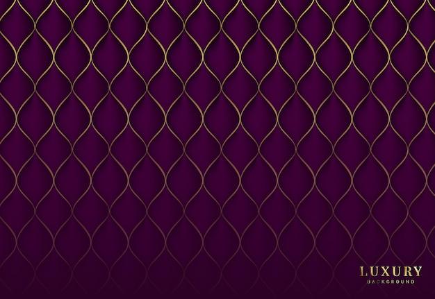 Elegant naadloos patroon met gouden ruit