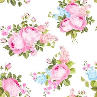 Elegant naadloos rozenpatroon.