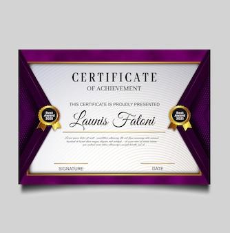 Elegant ontwerp van certificaatprestaties