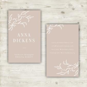 Elegant pastel visitekaartje