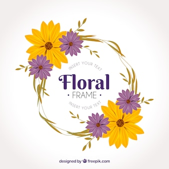 Elegant rond bloemenkaderontwerp
