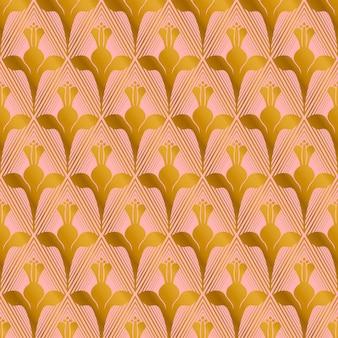 Elegant roze gouden patroon