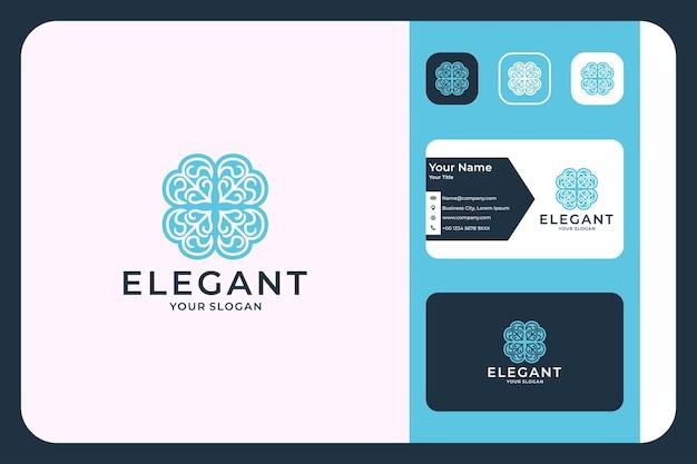 Elegant schoonheidslogo-ontwerp en visitekaartje