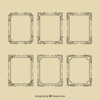 Elegant sier geplaatste frames
