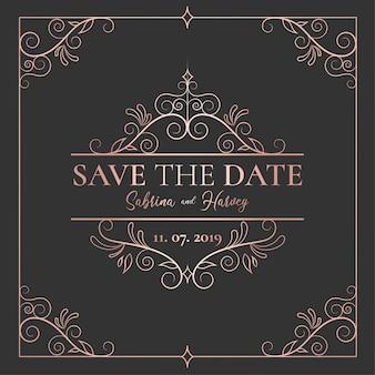 Elegant sparen de datumuitnodiging
