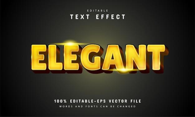 Elegant teksteffect met gouden kleur