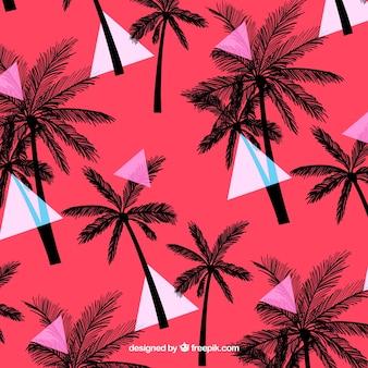 Elegant tropisch patroon met vintage stijl