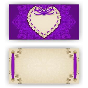 Elegant vectormalplaatje voor luxeuitnodiging, kaart