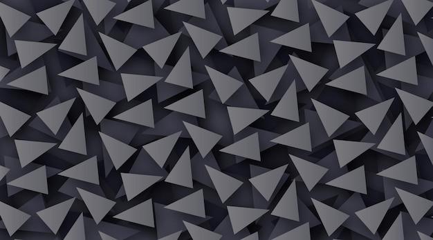 Elegant veelhoekig behang in donkere kleuren