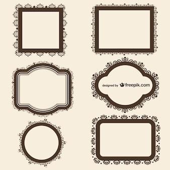 Elegant vintage frames