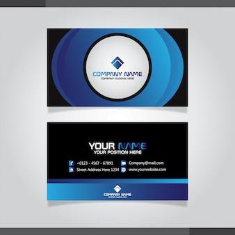 Elegant visitekaartje in blauwe kleuren