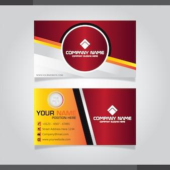 Elegant visitekaartje in rode en witte kleuren