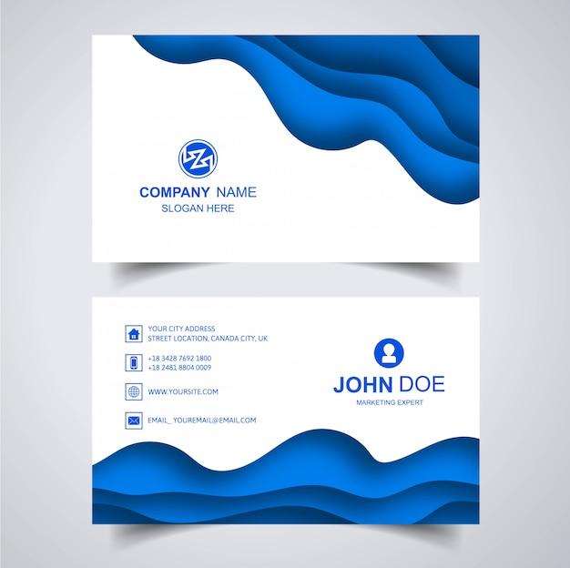 Elegant visitekaartje met golfsjabloon