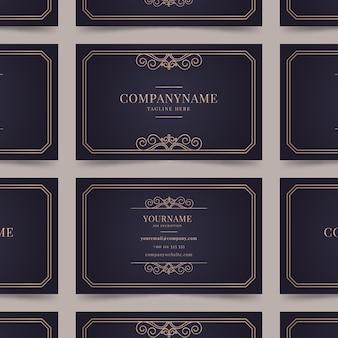 Elegant visitekaartje met gouden ornamenten