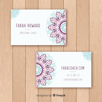 Elegant visitekaartje met mandala concept