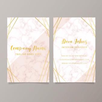 Elegant visitekaartje met marmeren textuur