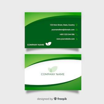 Elegant visitekaartje met ontwerp van aard of eco